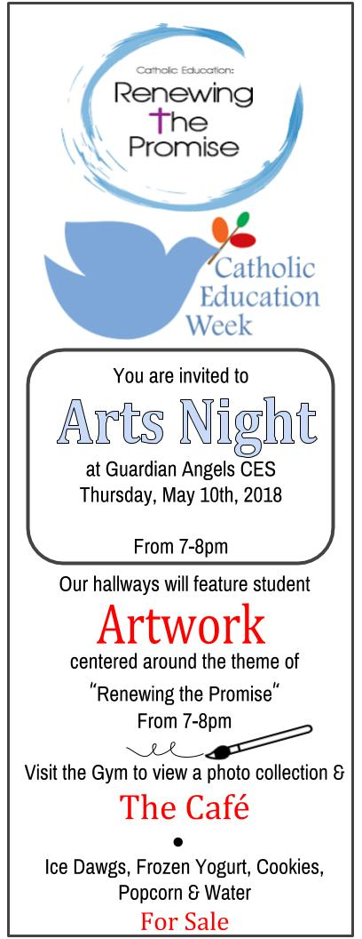 Arts Night Invitation